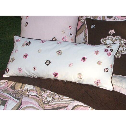 Bacati Retro Flowers Lumbar Pillow