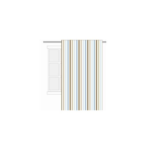Bacati Mod Diamonds and Stripes Cotton Rod Pocket Curtain Panel