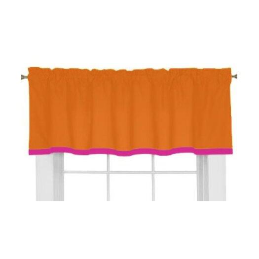 "Bacati Tangerine 60"" Curtain Valance"