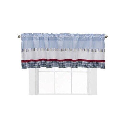 "Bacati Boys Stripe and Plaids 58"" Curtain Valance"