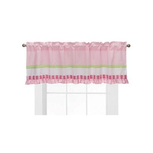 "Bacati Girls Stripes and Plaids 58"" Curtain Valance"