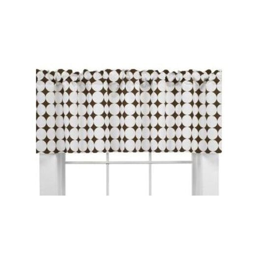 """Bacati Quilted Circles Dot 65"""" Curtain Valance"""