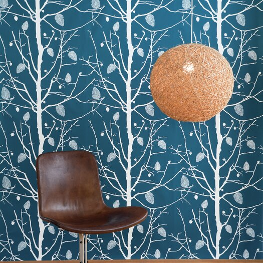 ferm LIVING Family Tree Wallsmart Floral Botanical Wallpaper