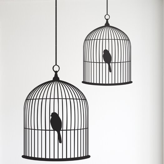 ferm LIVING Small Birdcage Wall Decal