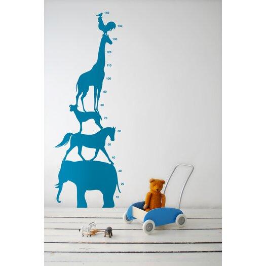KIDS Animal Tower Wall Decal