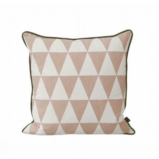 Large Geometry Organic Cotton Canvas Cushion