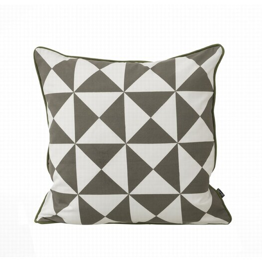 ferm LIVING Large Geometry Organic Cotton Canvas Cushion