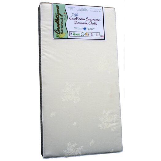 Colgate Cradletyme Naturals EcoFoam Supreme Damask Cloth Crib Mattress