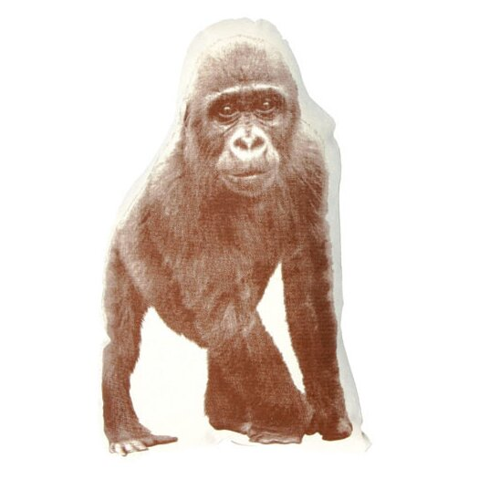 Fauna Mini Organic Cotton Gorilla Cushion