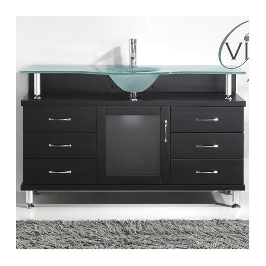 """Virtu Vincente 55"""" Single Bathroom Vanity Set"""