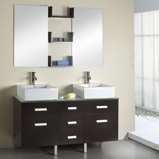 "Virtu Maybell 56"" Bathroom Vanity Set with Double Sink"