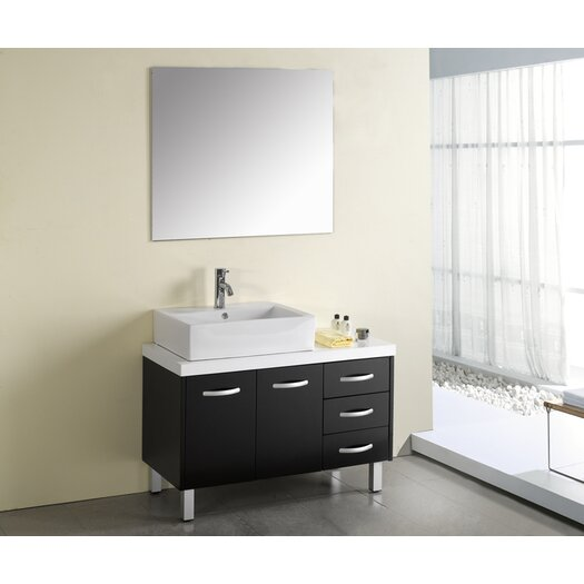 "Virtu Tilda 39"" Single Bathroom Vanity Set with Mirror"