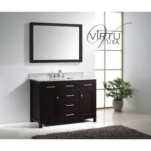 """Virtu Caroline 49"""" Single Bathroom Vanity Set with Mirror"""