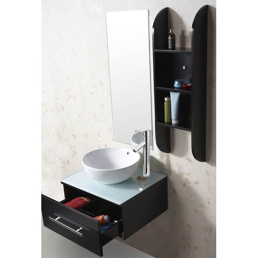"Virtu Primo 24"" Single Bathroom Vanity Set with Mirror"