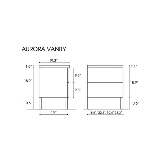 "Iotti by Nameeks Aurora 30.4"" Bathroom Vanity Set"