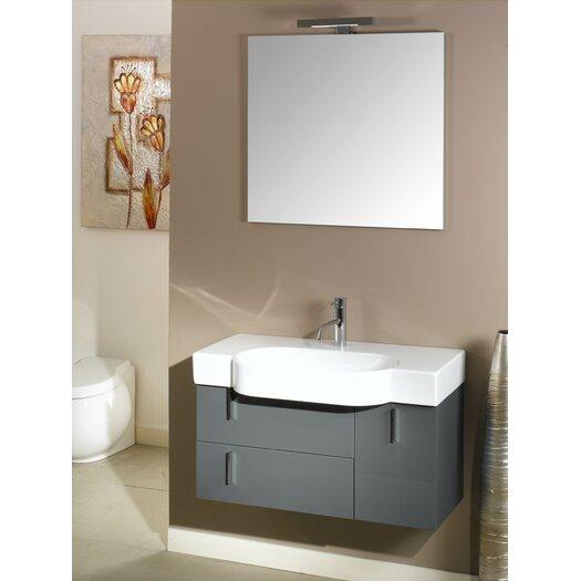 "Iotti by Nameeks Enjoy 35"" Single Wall Mounted Bathroom Vanity Set with Mirror"