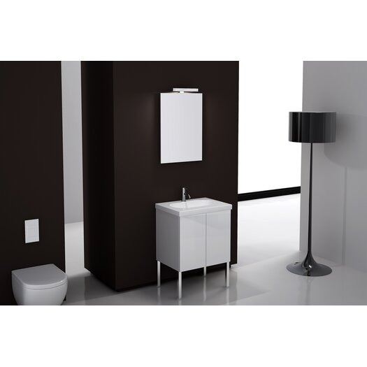 "Iotti by Nameeks Trendy 24"" Single Footed Bathroom Vanity Set with Mirror"