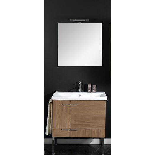"Iotti by Nameeks Simple 30.4"" Wall Mounted Bathroom Vanity Set"