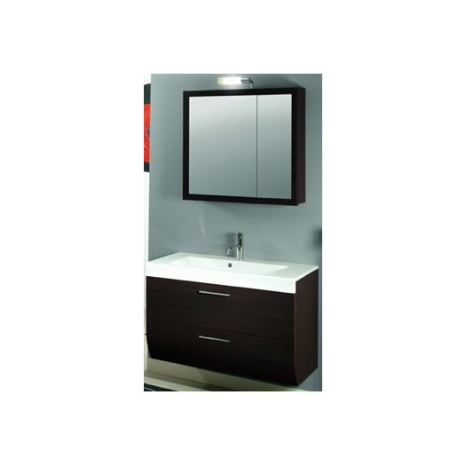 """Iotti by Nameeks New Day 38"""" Single Wall Mounted Bathroom Vanity Set with Mirror"""