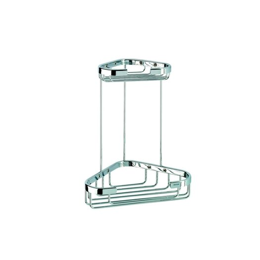Geesa by Nameeks Basket Double Small Corner Shower Basket in Chrome