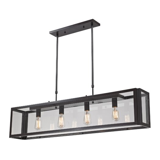 Landmark Lighting Parameters-Bronze 4 Light Pendant