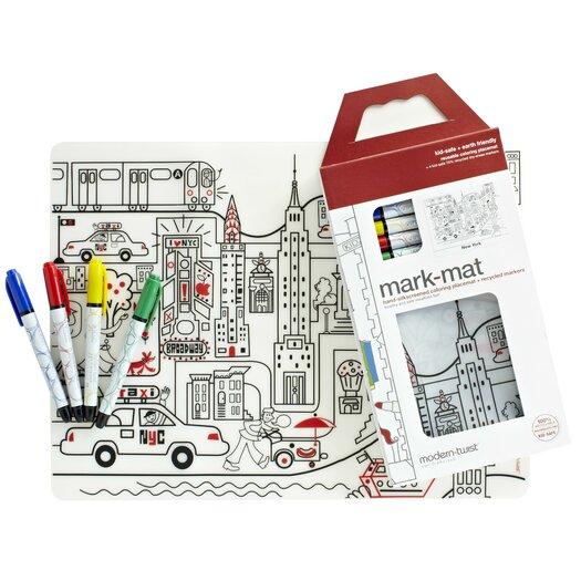 Modern-twist Mark-mat Kid Box New York Placemat