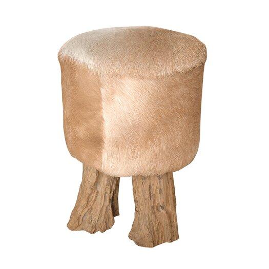 Jeffan Safari Hide Drum Stool