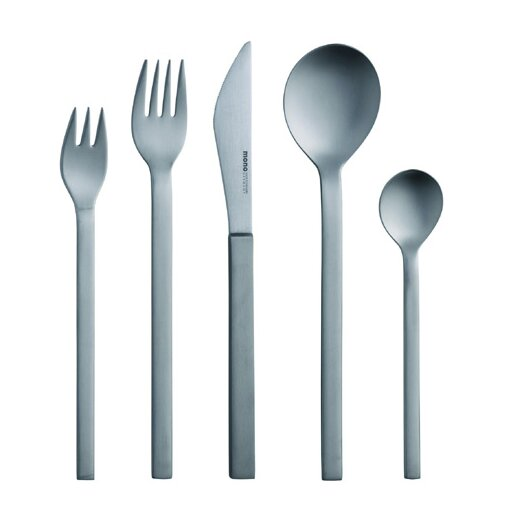 Mono-A Edition 50 Collection, 5-Piece Set in Brushed Titanium by Peter Raacke