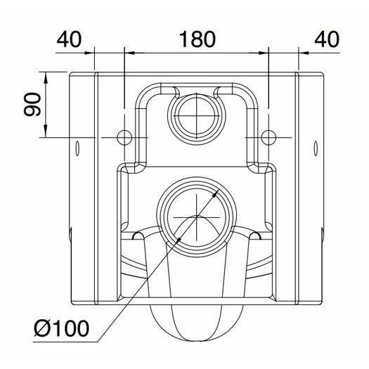 Scarabeo by Nameeks Zefiro Wall Mounted Elongated 1 Piece Toilet