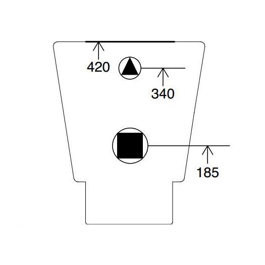 Scarabeo by Nameeks Wish Floor-Mounted 1 Piece Toilet