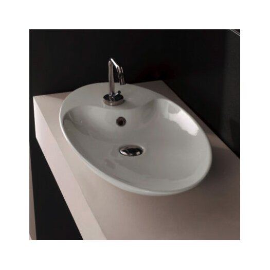 Scarabeo by Nameeks Shape Above Counter Single Hole Bathroom Sink