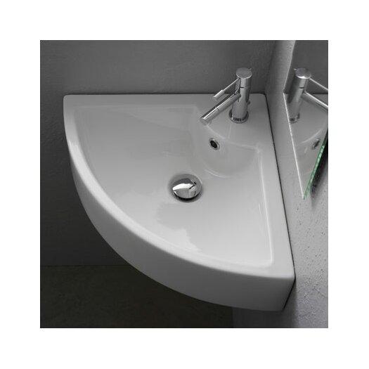 Scarabeo by Nameeks Wall Mounted Corner Bathroom Sink