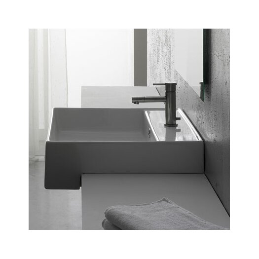 Scarabeo by Nameeks Teorema Semi Recessed Single Hole Bathroom Sink
