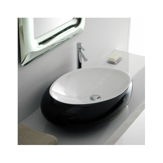 Scarabeo by Nameeks Moai Vessel Bathroom Sink