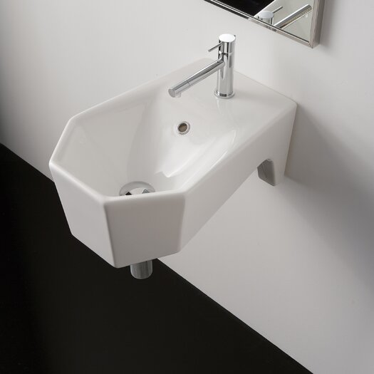 Scarabeo by Nameeks Bijoux Geometric Wall Mount Bathroom Sink