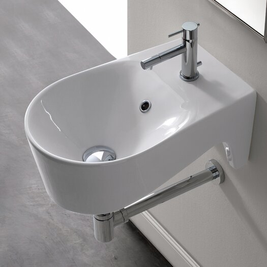 Scarabeo by Nameeks Bijoux U-Shaped Wall Mount Bathroom Sink