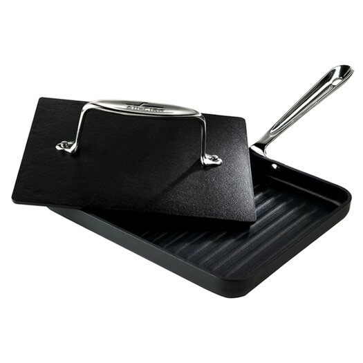 "All-Clad Specialty Cookware 8"" x 10"" Nonstick Panini Pan"