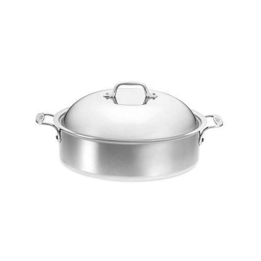 All-Clad Stainless Steel 6-qt. Round Braiser with Lid