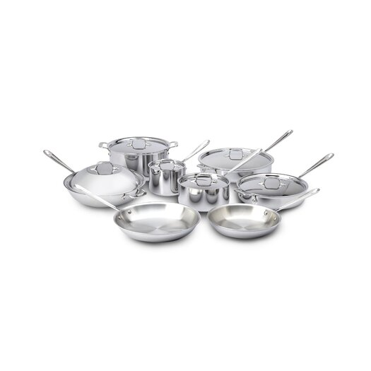 All-Clad Stainless Steel 14-Piece Cookware Set I