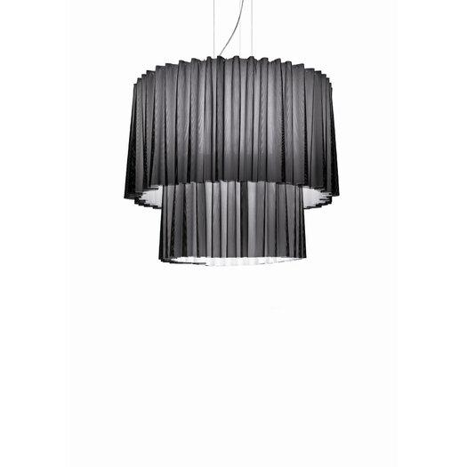 Axo Light Skirt 2 Tier Drum Pendant with Black Netting (Fluorescent)