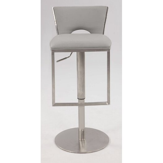 Chintaly Imports Adjustable Height Bar Stool with Cushion