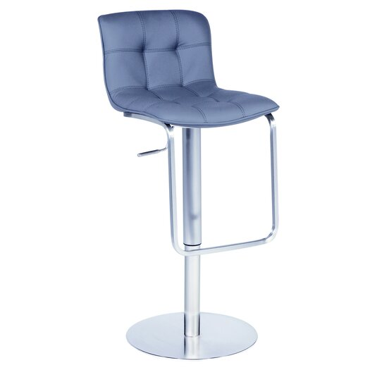 Chintaly Imports Adjustable Height Swivel Bar Stool with Cushion