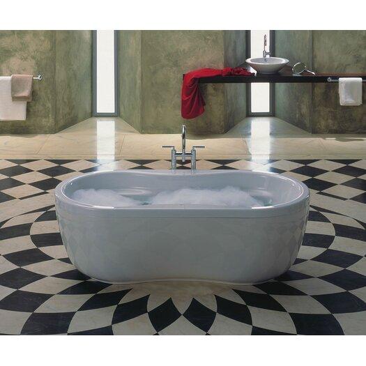 "Kaldewei Mega Duo 71"" x 35"" Oval Bathtub with Molded Panel"
