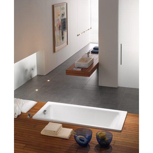 "Kaldewei Puro 71"" x 32"" Three Wall Bathtub with Reversible Drain"