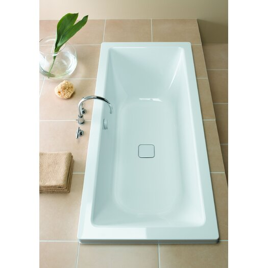 "Kaldewei Conoduo 67"" x 30"" Three Wall Bathtub with Center Drain"