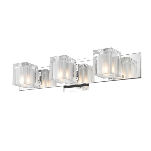 Golden Lighting Block 3 Light Bath Vanity Light