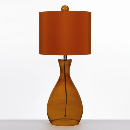 """angelo:HOME Hand Blown 26"""" H Table Lamp with Drum Shade"""