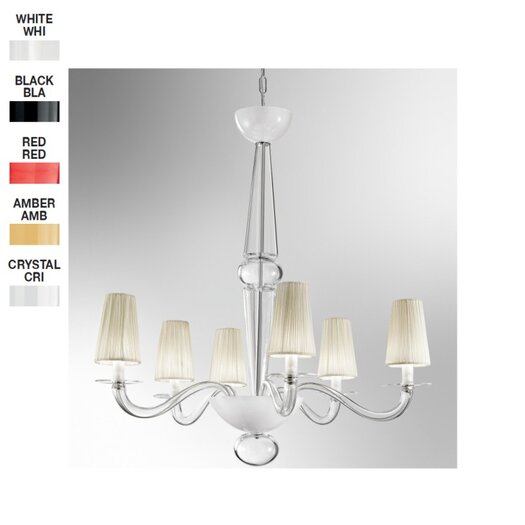 Zaneen Lighting Prado 6 Light Chandelier