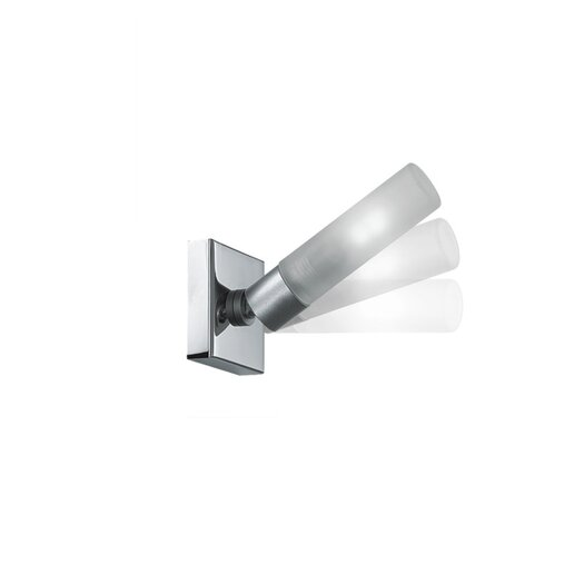 Zaneen Lighting Candle One Light Flush Mount in Chrome