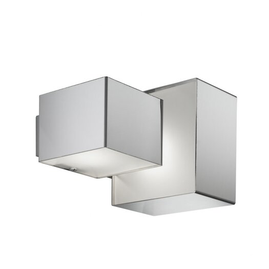 Zaneen Lighting Domino Inox Two Light Flush Mount  /  Wall Sconce in Stainless Steel
